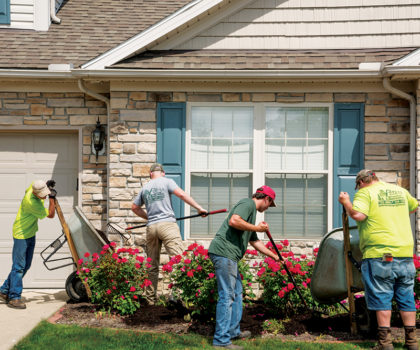At Peters Professional Landscaping, a total spring spruce-up is kind of their thing