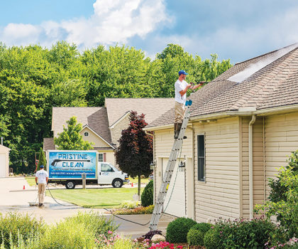 It's not too late to have your home's exterior cleaned for the season by Pristine Clean