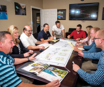 The team behind the Moscarino Outdoor Creations landscape