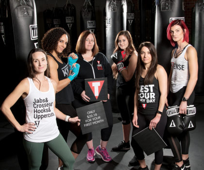Lace up your gloves and burn up to 1,000 calories at TITLE Boxing Club