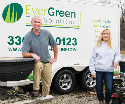 Correy Petz, owner of EverGreen Turf Solutions, takes the art and science of lawncare a step beyond