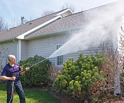 Rick Winrod's Rolling Thunder Window Cleaning and Power Washing is a one-call source for a long list of home maintenance services