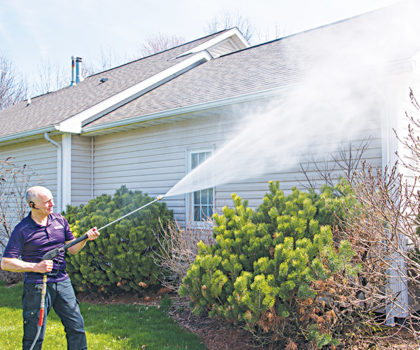 The team of professionals at Rick Winrod's Rolling Thunder Window Cleaning & Pressure Washing can rid your home of moss, algae, mold and mildew
