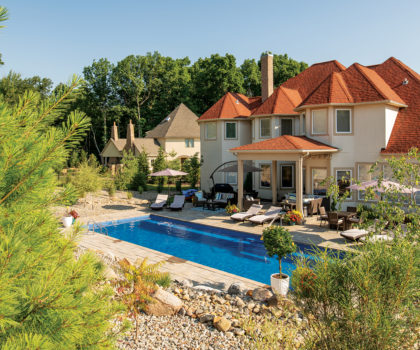 A pool from Candyapple Nursery & Landscaping can keep the family fun flowing