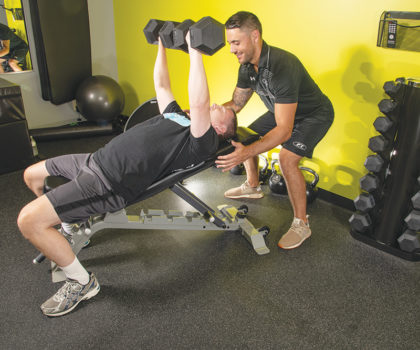 After Wally Anders turned 50, he turned to Fitness Together for a new activity to stay strong