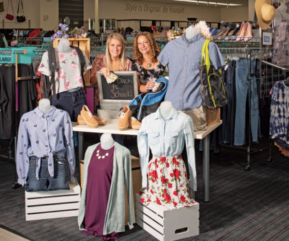 Score the latest trends for less at Plato's Closet