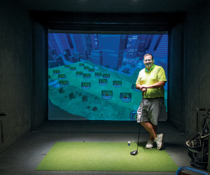 Take a virtual swing at some of the world's hottest golf courses at Bunker Hill