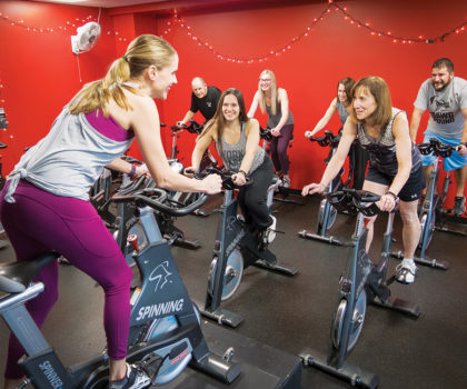 The Fitness Center at University Hospitals Avon Health Center kicks the traditional gym experience to the curb