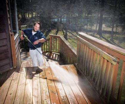 Now is the time to get on Chagrin Home Improvements' deck cleaning schedule