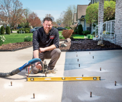Mr. Level is saving homeowners thousands, and helping them to avoid concrete replacement