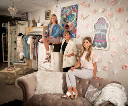 As the fashionable Britash boutique celebrates its first year in business, owners Christie, Ashleigh and Brittanie are pulling out all the stops