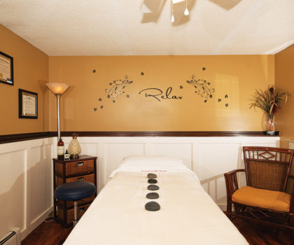 Healing Kneads Massage offers a need-specific massage experience in a tranquil oasis spa suite
