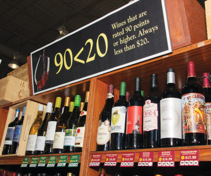 Mustard Seed Market & Café's new 90<20 wine program promises the best of the best for less