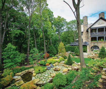 Exscape Designs completes landscape transformation on local couple's 1915 home, restoring it to its former glory