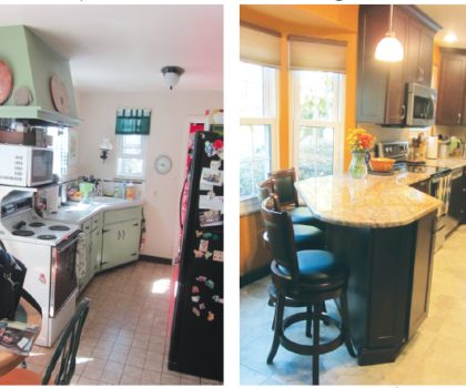 Acclaim Renovations & Design took this outdated kitchen and revamped the layout to create more space