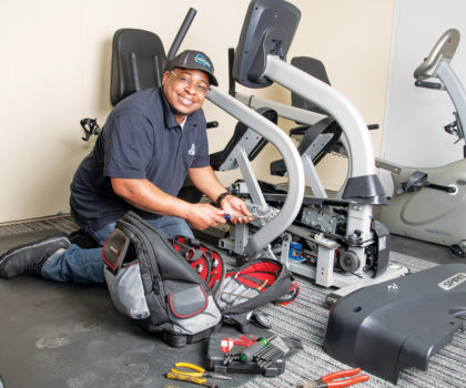 Fitness Machine Technicians of Northeast Cleveland keeps the gym warrior on the move