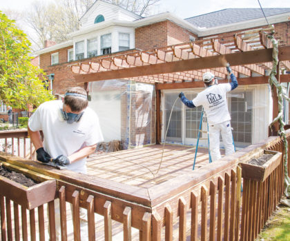 Chagrin Home Improvements can turn the appearance of your deck around before the balmy temps are here to stay