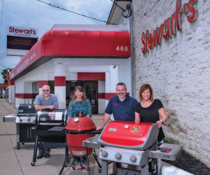 Stewart's TV and Appliance smokes the competition by offering one of the largest selections of grills in the area