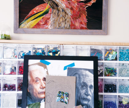 Stella's Art Gallery is a working gallery where art is created, displayed, demonstrated, taught and fostered