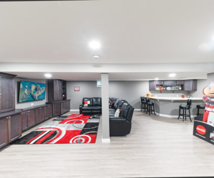 Here's how Bob Gallese and the team at Acclaim Renovations & Design transformed one Mentor couple's basement