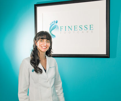 Dr. Danielle Shaper, of  Finesse Footcare, can zap away the nail fungus with her Lunula laser