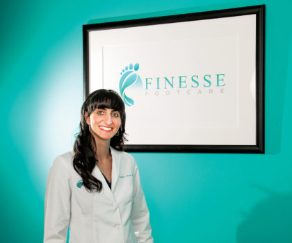 By offering the latest medical advancements in a spa-like environment, Dr. Danielle Shaper, of Finesse Footcare, is dramatically improving the health of her patients' feet