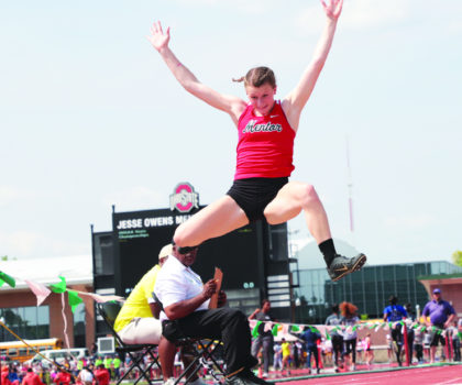 Mentor High School's long-jump standout Paige Floriea is unstoppable