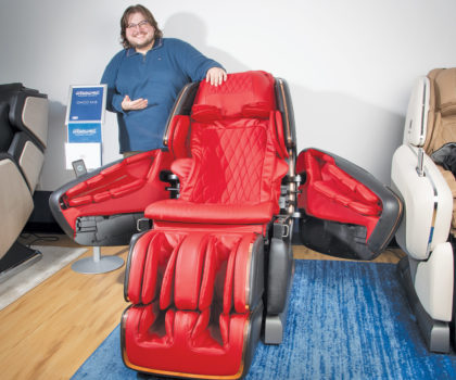 The stylish massage chairs of today make it easier to take on what life throws at you