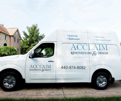 Working with Acclaim Renovations & Design means  never having to be out of touch