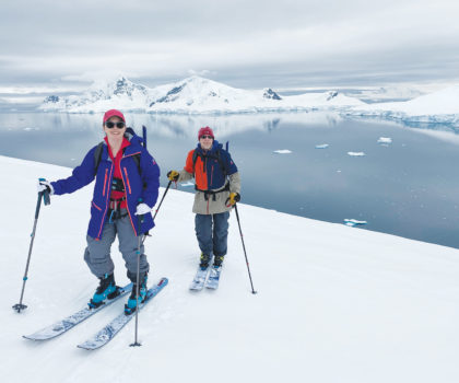 Amy V. wanted to ski Antarctica, but a back injury threatened to sideline her, trainers at Fitness Together stepped in