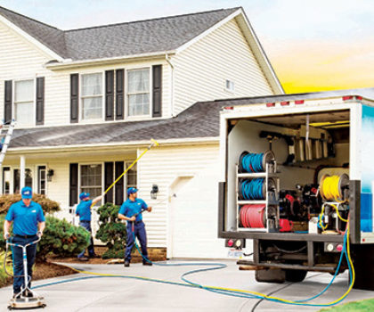 Perfect Power Washu0027s Experienced Technicians Perform A Whole Home Makeover  On A Local Home. Services Include A Roof Cleaning, House Wash, And Concrete  ...