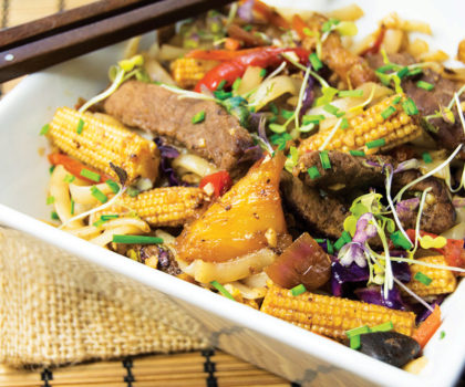 The Starving Chef Recipe: Black Garlic and Pineapple Stir Fry