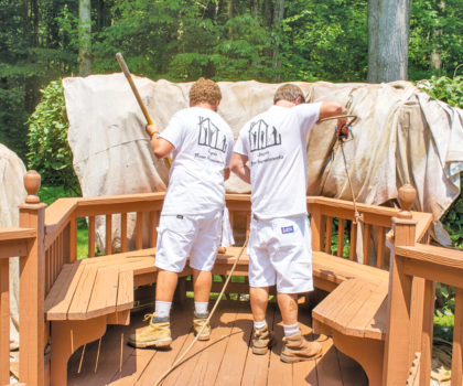 A professional cleaning and staining by Chagrin Home Improvements is a must to get the most out of your deck this summer and fall