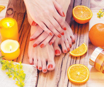 Scented pedicures at Cory's Hair Studio & Day Spa