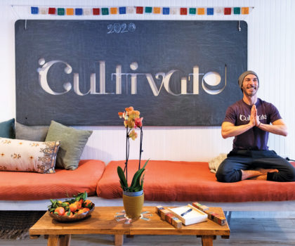 In an effort to make yoga accessible to all, Evan Scharfeld has changed the way people immerse themselves at Cultivate Yoga Space