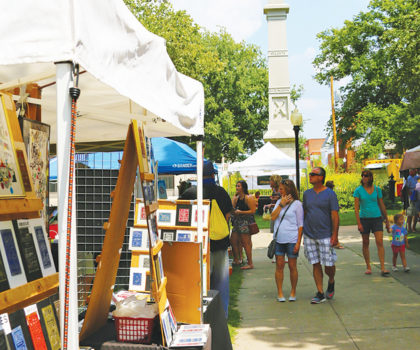 Creative fun for the whole family happens at Art in the Park on Saturday, August 11th