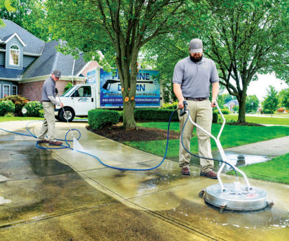The team at Pristine Clean explains why October is the most popular month to wash & seal your concrete drive