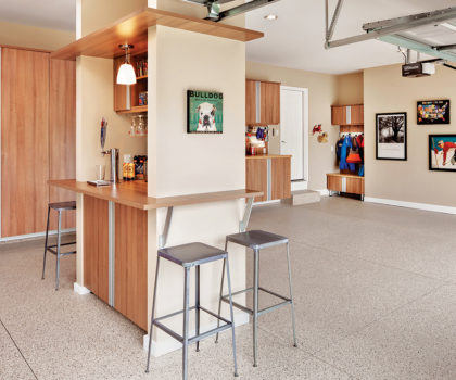 A floor-to-ceiling garage makeover from Encore Garage Ohio creates more space to gather
