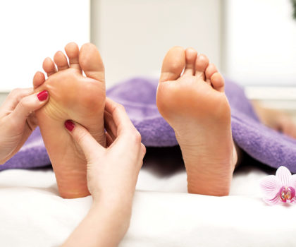 Cory's offers reflexology, which can be combined with any massage service
