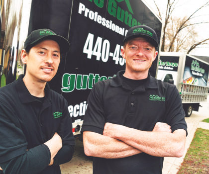 The Gutter Boys' mission is to end gutter cleaning in Northeast Ohio