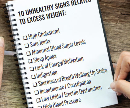 If you're experiencing one or more  weight-related symptoms, now is the time to contact  HealthyOne Weight Loss