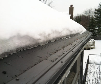 The Gutter Cover Company can free your gutters  from debris and big icicles
