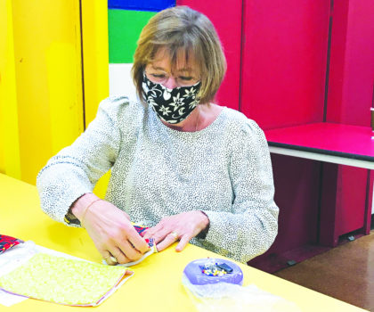 Local women make face masks to benefit individuals  with developmental disabilities