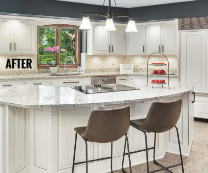 These dramatic kitchen upgrades by American Wood Reface are faster and less expensive than a full tear-out