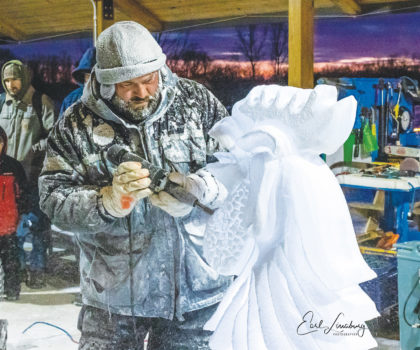 The Lake Metroparks Farmpark Ice Festival is happening  Saturday and Sunday, January 25 and 26