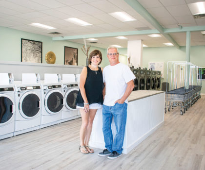"""Laundromat 42 in Parma Heights features state-of-the-art equipment and an """"all the comforts of home"""" décor"""
