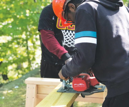Students in the Mentor School's Construction Management Program are learning skills