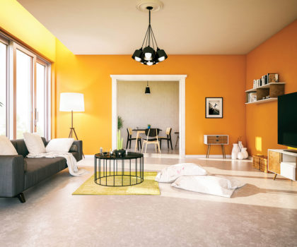 With fresh interior spaces courtesy of  Painting Solutions,  you can't help but feel better about being  at home