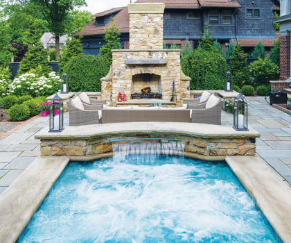 Create a gorgeous backyard with a swimming pool with help from Exscape Designs