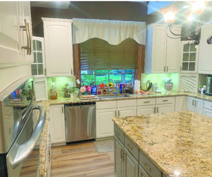 Why not consider having your cabinets professionally painted, instead of throwing caution to the wind and buying new?